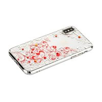 Пластиковый чехол для iPhone X / Xs 10 со стразами серебристый край Beckberg Pretty Series Silver