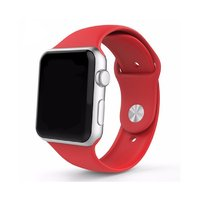 Спортивный силиконовый ремешок для Apple Watch 42мм красный