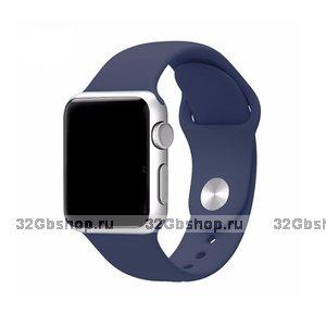 Спортивный силиконовый ремешок для Apple Watch 42мм синий