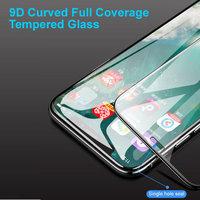 Защитное 9D стекло для iPhone X / Xs с черной рамкой - 9D Curved Full Coverage Tempered Glass