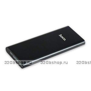 Аккумулятор внешний универсальный Hoco B16-10000 mAh Metal power bank 5V-2.1A Black Черный