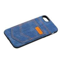 Чехол XOOMZ для iPhone 8/ 7 Pocket PU Back Cover джинсовый Голубой