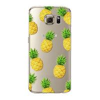 Прозрачный силиконовый чехол для Samsung Galaxy S6 ананасы