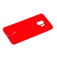 Красный матовый силиконовый чехол для Samsung Galaxy S9 с пленкой - Cherry Matte Red 0.4mm