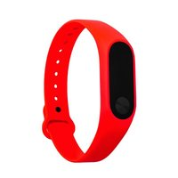 Красный ремешок для Xiaomi Mi Band 2 силиконовый гипоаллергенный