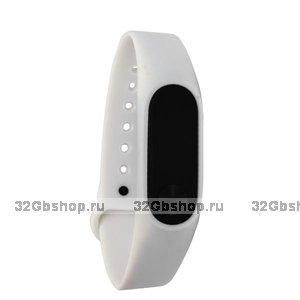 Белый силиконовый ремешок для Xiaomi Mi Band 2 гипоаллергенный