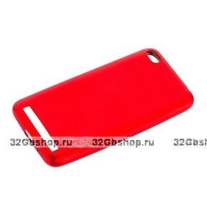 Красный силиконовый чехол для Xiaomi Redmi 5A - J-case Delicate Series Matt Red 0.5mm