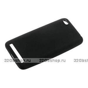 Черный силиконовый чехол для Xiaomi Redmi 5A - J-case Delicate Series Matt Back 0.5mm