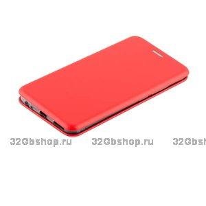 Красный кожаный чехол для Xiaomi Redmi 6 - Fashion Case Slim-Fit Red