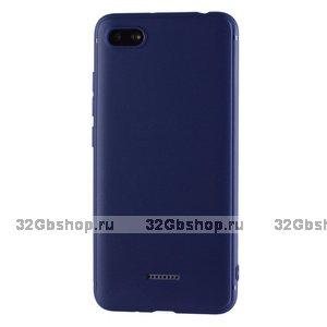 Синий силиконовый чехол для Xiaomi Redmi 6A