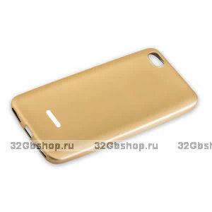 Золотой силиконовый чехол для Xiaomi Redmi 6A
