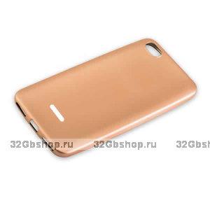 Силиконовый чехол для Xiaomi Redmi 6A розовое золото