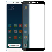 Защитное противоударное стекло для Xiaomi Redmi 6A черная рамка