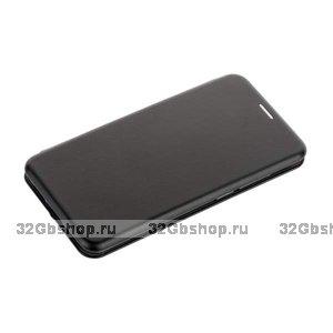 Черный кожаный чехол для Xiaomi Redmi 6 - Fashion Case Slim-Fit Black