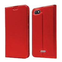 Красный кожаный чехол для Xiaomi Redmi 6A - Fashion Case Slim-Fit Red