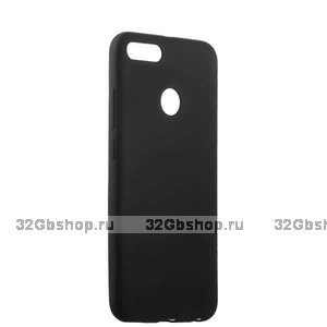 Силиконовый чехол для Xiaomi Redmi 6 черный - Cherry Delicate Series Matt Case Black