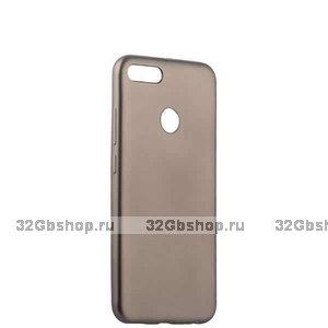 Силиконовый чехол для Xiaomi Redmi 6 серый - Cherry Delicate Series Matt Case Grey
