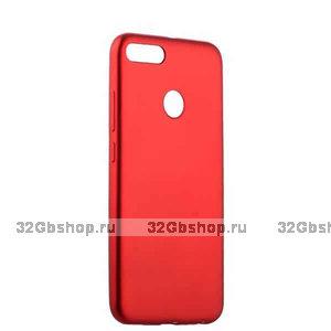 Силиконовый чехол для Xiaomi Redmi 6 красный - Cherry Delicate Series Matt Case Red