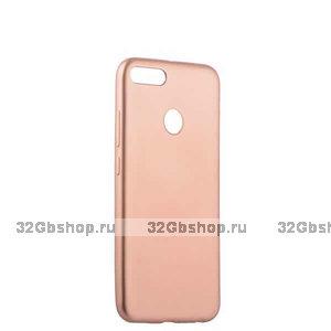 Силиконовый чехол для Xiaomi Redmi 6 розовое золото - Cherry Delicate Series Matt Case Rose Gold