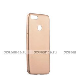Золотой силиконовый чехол для Xiaomi Redmi 6 - Cherry Delicate Series Matt Case Gold