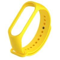 Желтый силиконовый ремешок для Xiaomi Mi Band 3