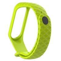 Зеленый ребристый силиконовый браслет для Xiaomi Mi Band 3