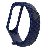 Синий силиконовый браслет для Xiaomi Mi Band 3 ребристый
