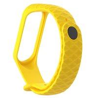 Желтый ребристый силиконовый браслет для Xiaomi Mi Band 3