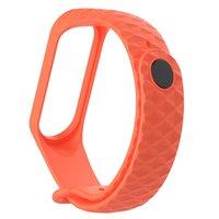 Оранжевый ребристый силиконовый браслет для Xiaomi Mi Band 3