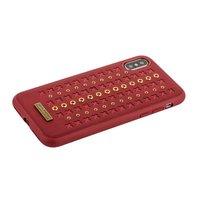 Красная кожаная накладка для iPhone X - Santa Barbara Polo&Racquet Club Flonrence Series Red