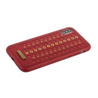 Красная кожаная накладка для iPhone X / Xs - Santa Barbara Polo&Racquet Club Flonrence Series Red