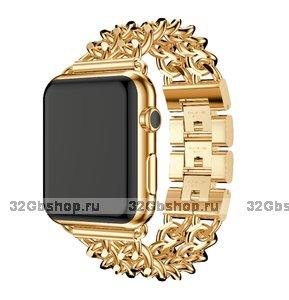 Браслет из нержавеющей стали для Apple Watch 42мм цвет золото