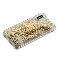 Прозрачный пластиковый чехол для iPhone X 10 с золотыми блестками - Santa Barbara Polo&Racquet Criss Series