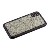 Силиконовый чехол с серебристыми блестками для iPhone X 10 черный бампер - Barbara Polo&Racquet Clory Series Black