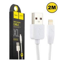 Кабель Lightning - USB Hoco X1 - 2 метра - для iPhone 5 / 5s / 5c / SE / 6 / 6s / Plus, iPhone 7 / 8 / 8 Plus, iPhone X / XS / 11, iPad
