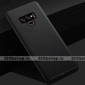 Черный тонкий силиконовый чехол для Samsung Galaxy Note 9