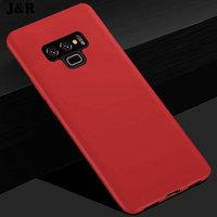 Красный тонкий силиконовый чехол для Samsung Galaxy Note 9