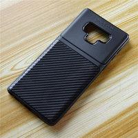 Черный силиконовый чехол для Samsung Galaxy Note 9 рисунок имитация карбона