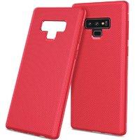 Красный силиконовый чехол для Samsung Galaxy Note 9 карбон