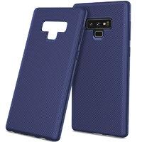 Синий силиконовый чехол для Samsung Galaxy Note 9 карбон