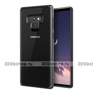 Прозрачный силиконовый чехол с черным бампером для Samsung Galaxy Note 9