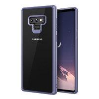 Прозрачный силиконовый чехол для Samsung Galaxy Note 9 с синим бампером
