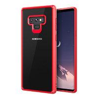 Прозрачный силиконовый чехол для Samsung Galaxy Note 9 с красным бампером
