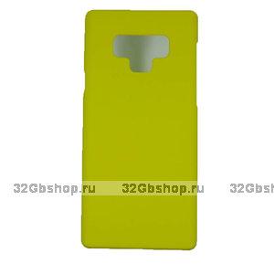 Желтый пластиковый чехол для Samsung Galaxy Note 9
