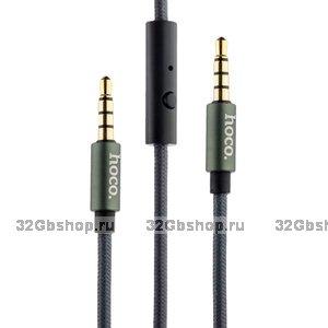 Кабель Hoco UPA04 AUX Noble sound series Audio Cable 3.5mm 1.0 м Графитовый с микрофоном