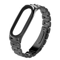 Черный металлический браслет для Xiaomi Mi Band 3