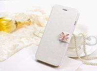 """Чехол книжка-подставка для iPhone 6 / 6s (4.7"""") белая с застежкой бабочкой и отсеком для хранения карт"""