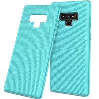 Голубой силиконовый чехол для Samsung Galaxy Note 9 карбон