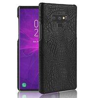 Черный чехол из кожи крокодила для Samsung Galaxy Note 9