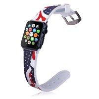 Силиконовый ремешок для Apple Watch 42мм с рисунком флаг США - USA